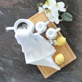 White Magic Eco Cloth Tea Towel - Snow