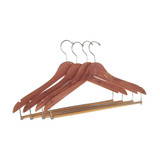 Cedar Fresh 4 Pack of Cedar Hangers with Lock Bar