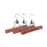 Cedar Fresh 3 Pack of Cedar Pant Hangers with Clamp