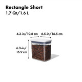 OXO POP 2.0 Container Rectangular Short 1.6L