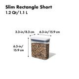 OXO POP 2.0 Container Slim Rectangular Short 1.1L