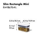 OXO POP 2.0 Container Slim Rectangular Mini 400ml