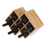 Bamboo 7 Bottle Wine Rack
