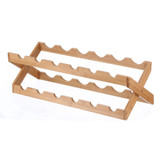 Bamboo 12 Bottle Foldable Wine Rack