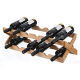 Bamboo 12 Bottle Foldable Wine Rack