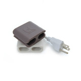 BlueLounge CableClip Large 2 Pack - White/Grey