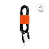 BlueLounge CableClip Medium 4 Pack - Grey/Orange