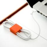 BlueLounge CableClip Medium 4 Pack - Grey/Orange