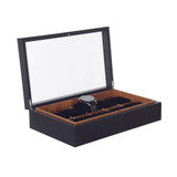 Stackable 10 Compartment Watch Box - Black