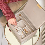 Stackers Classic Jewellery Box with Lid - Taupe