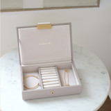 Stackers Mini Jewellery Box with Lid - Taupe
