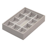 Stackers Mini Jewellery Box Tray 11 Compartment - Taupe