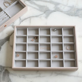 Stackers Classic Jewellery Box Tray 25 Compartment - Blush