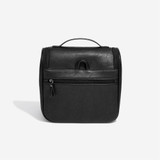 Stackers Leather Hanging Toiletry Bag - Black