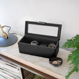 Stackers For Him 4 Piece Watch Box with Lid - Black