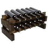 Modular 12 Bottle Wine Rack - Matte Stain