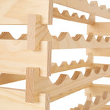 VinRack 48 Bottle Timber Wine Rack - Natural Pine