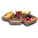 IconChef Woven Food Safe Rectangular Basket with Handle - Medium