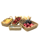 IconChef Woven Food Safe Square Basket with Handle