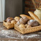 IconChef Wide Woven Basket Short Rectangular Medium - Natural