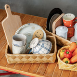 IconChef Wide Woven Basket Round Large - Natural