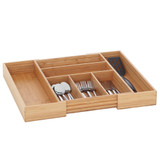 Howards Bamboo Cutlery Organiser Expandable Large