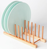 Howards Bamboo Plate Stand