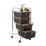 Howards 4 Drawer Trolley - Black
