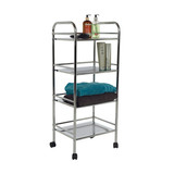 Howards 4 Tier Chrome Shelf Trolley