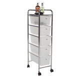 Howards 5 Drawer Storage Trolley - Frosted