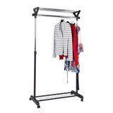 Howards Extendable Garment Rack With Top Shelf