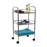 Howards 3 Tier Chrome Shelf Trolley