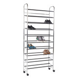 Howards 10 Tier Mobile Shoe Stand