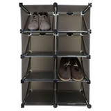 Howards Cube Shoe Grid Rack Black - 16 Pairs