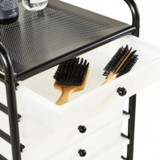 Howards 10 Frosted Drawer Trolley - Black