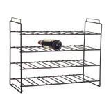 Howards Black 24 Bottle Stackable Wine Rack