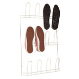 Howards Shoe Rack 6 Pair White