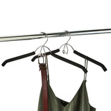 Howards Foam Shirt Hanger 2 Pack - Black
