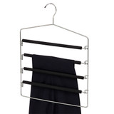 Howards Foam 4 Tier Lockable Trouser Hanger - Black