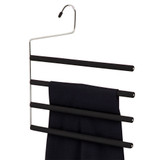 Howards Foam 4 Tier Open Trouser Hanger - Black