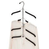 Howards Foam 4 Tier Open Shirt Hanger - Black