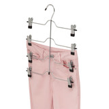 Howards Metal 4 Tier Hanger with Pant Clips - Chrome