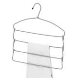 Howards 4 Tier Pant Hanger - Cord Grey