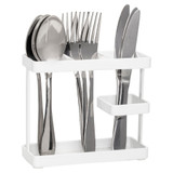 Howards Oskari Kitchen Cutlery Holder - White
