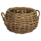 Howards Rattan Rounded Log Basket - Medium