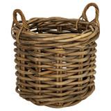 Rattan Rounded Log Basket - Large
