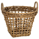 Rattan Rounded Basket with Handles - Large