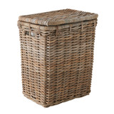 Rattan Rectangular Laundry Hamper Basket with Lid