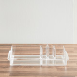 Acrylic Cosmetic Tray - 8 Compartments