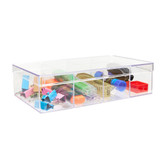 Howards Stackable Organiser 4 Compartments Deep - Clear